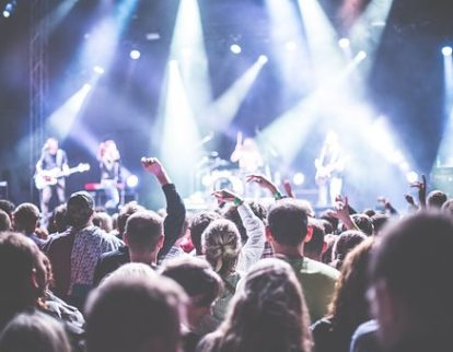 Hifi Music Festival music lights audience